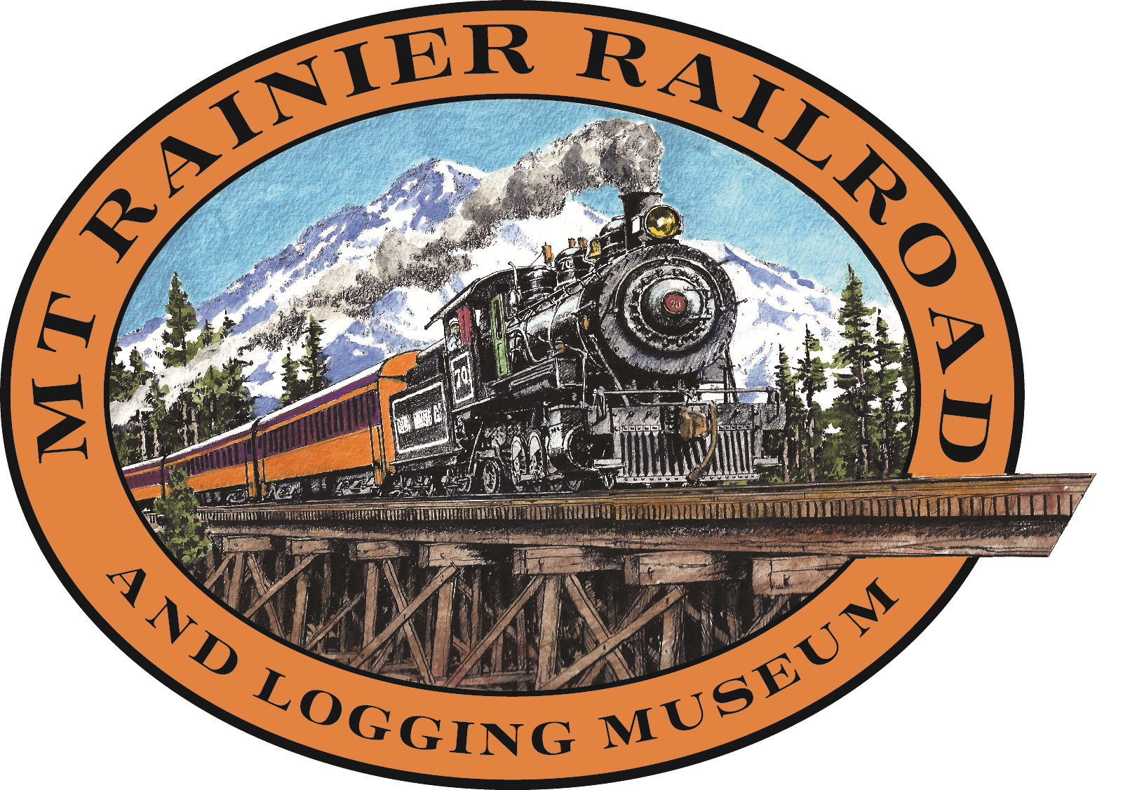 Mt Rainier Railroad & Logging Museum Logo